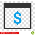 Dollar Currency Calendar Page Eps Icon vector image vector image