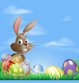 easter background scene vector image vector image