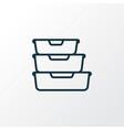 food containers icon line symbol premium quality vector image