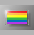 Gay flag or lgbt rainbow flag pride