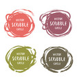 hand drawn scribble colorful labels with text vector image vector image