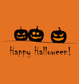 happy halloween greeting card vector image vector image