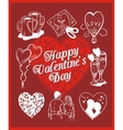 Happy valentines day - set vector image vector image