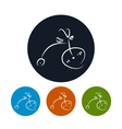 Icon bicycle vector image