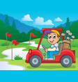 image with golf theme 5 vector image