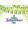 indian independence day 5 vector image