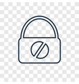 insecure concept linear icon isolated on vector image