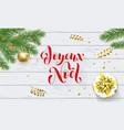 joyeux noel french merry christmas golden vector image vector image
