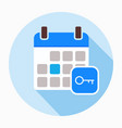 key calendar day icon vector image