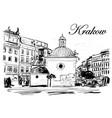krakow vector image vector image