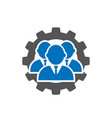 leadership icon in flat style team and gear vector image