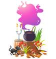 magic brew in black pot vector image