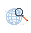 magnifying glass icon global data search concept vector image