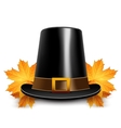 Pilgrims hats for thanksgiving vector image