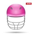 pink cricket helmet front view vector image vector image
