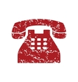 Red grunge Telephone logo vector image vector image