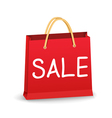 Red Shopping Bag vector image vector image