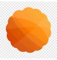 round cookies icon cartoon style vector image