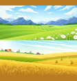 rural landscape horizontal banners vector image