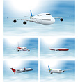 Scenes with airplane in the sky vector image vector image
