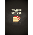 school poster books vector image