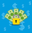secure money and savings vector image