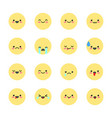 set emoticons icons for applications and chat vector image
