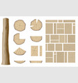 set of different wooden textures 1 vector image vector image