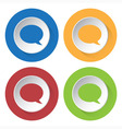 set of four icons - speech bubbles vector image