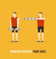 shoulder exercises front raise vector image