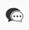 simple speech bubble icon on transparent vector image vector image