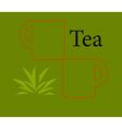 Tea design template vector image vector image