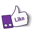 Thumbs up paper sticker vector image