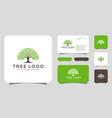 tree logo design elements green garden logo vector image vector image