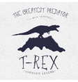 typography labeldinosaur on mountain vector image vector image