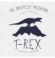 Typography labelDinosaur on the mountain vector image