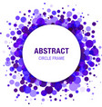 Violet Abstract Circle Frame Design Element vector image