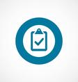 vote bold blue border circle icon vector image