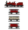 vvintage steam train vector image vector image