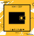 wallet symbol icon vector image