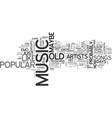 why does new music suck text word cloud concept vector image vector image