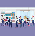 workers in modern office flat vector image