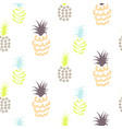 abstract pineapple pastel colors pattern vector image
