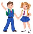 school boy girl bag vector image