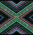 striped bright hand painted seamless pattern vector image