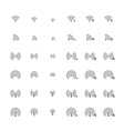 Set of different flat wi-fi and wireless icons for vector image