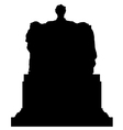 Abraham Lincoln Memorial Statue Silhouette vector image vector image