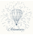 air balloon and vintage sun burst frame Adventure vector image vector image