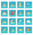 bakery icon blue app vector image