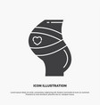belt safety pregnancy pregnant women icon glyph vector image vector image